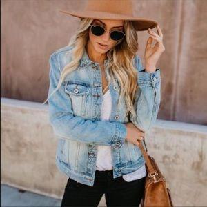 Jackets & Blazers - Light blue women's Jeans jacket